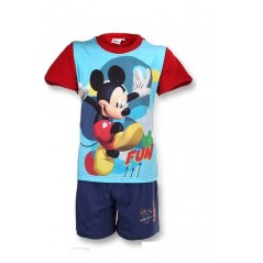 Ensemble short et T-shirt Mickey - Rouge