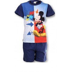 Ensemble short et T-shirt Mickey - Bleu