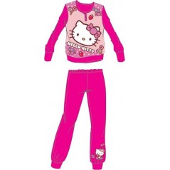 Pyjama long polaire Hello Kitty - Rose