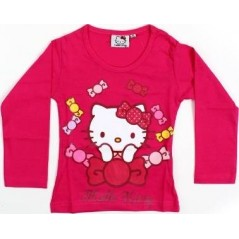 T-shirt manches longues Hello Kitty - Fuchsia