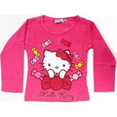 T-shirt manches longues Hello Kitty - Rose