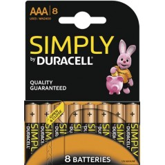 Piles Duracell Simply AAA/LR03 x 8