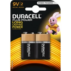 Piles Duracell Plus Power 9 V x 2