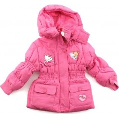 Hello Kitty Parka Capuche Pour Fille - Rose
