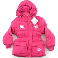 Hello Kitty Parka Capuche Pour Fille - Fuchsia