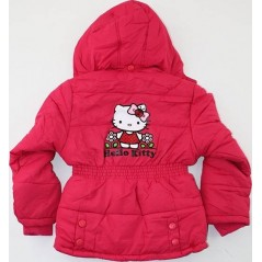 Hello Kitty Parka Capuche Pour Fille - Rouge