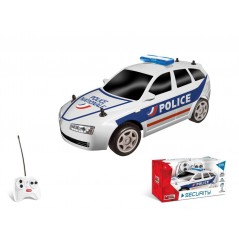 voiture radio commandée 1/28e Collection Security - Blanc