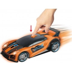 Voiture Hot Wheels Spark Racers Musicale et change de couleur - Orange