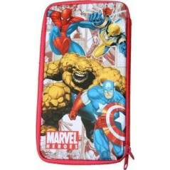 Plumier métal spiderman ou trousse marvel heroes garni - Rouge